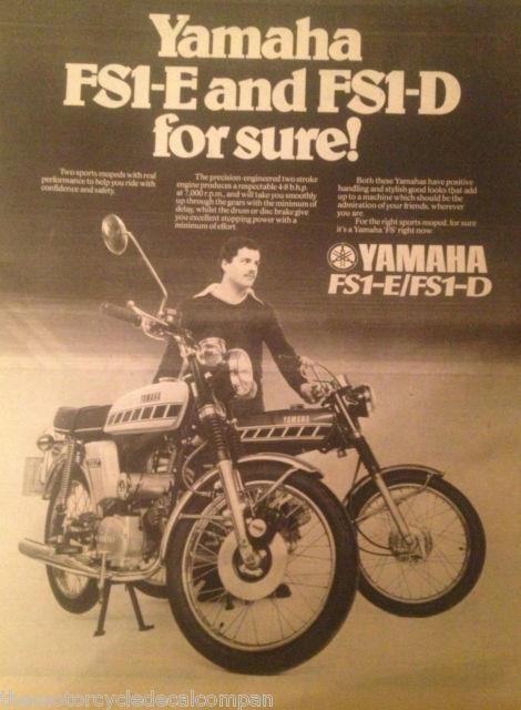 1976 77 YAMAHA FS1 E BAJA BROWN SPEEDBLOCK 394   MAGAZINE ADVERT